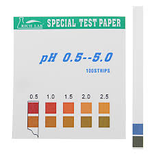 Precision Ph Test Strips Short Range 0 5 5 0 Indicator Paper Tester 100 Strips Boxed W Color Chart