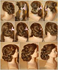 Hairstyle Steps For Long Hair Holiday Hairstyle Step By Step
