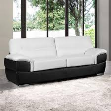 barletta white leather sofa collection upholstered in leather black leather match