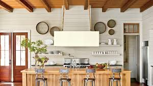 shiplap wall kitchen. open kitchen with shiplap walls wall southern living