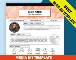 Media Kit Template Mixed Media Kit Instant Download Ad Rate