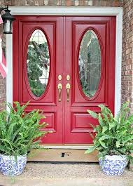 red double front doors. Perfect Red Hi Sugarplum  Spruced Up Front Porch Great Tip To Brighten A Faded  Doormat And I Am In Love With The Red Front Door With Red Double Doors Pinterest