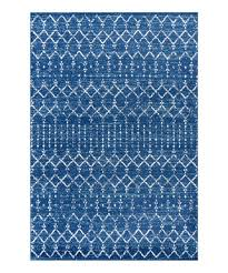 dark blue white moroccan hype medallion rug