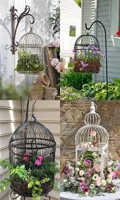 birdcage planter bird cage decor