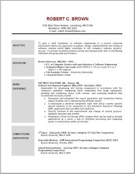 Professional Resume Objective Samples Endearing Sample Resume