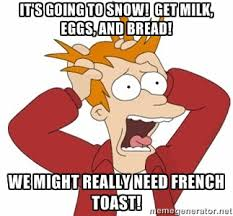 Image result for snow storm french toast