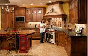 kitchen cabinet for elegant custom wood brown and chandelier with black granite countertop also wood