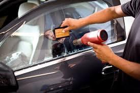 applying car window tint