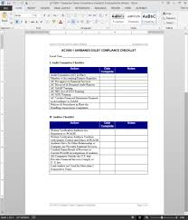 Compliance Manual Template Sarbanes Oxley Compliance Checklist Template 17