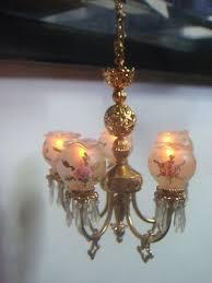 lighting for dollhouses. dollhouse miniature 5 arm electrical chandelier artisan ellen blauer lighting for dollhouses u
