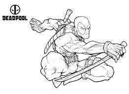 View and print full size. Deadpool Deadpool Kids Coloring Pages