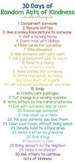 random acts of kindness good template and could be modified for 30 days of random acts of kindness ideas for kids