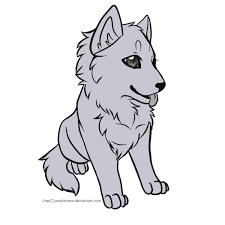 white wolf pup drawing. Simple Wolf Drawing Cartoons Wolf 108819943 To White Wolf Pup Drawing L