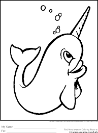 Small Picture Draw Narwhal Coloring Page 90 For Your Coloring Pages Disney with