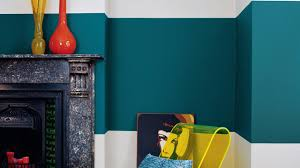 Teal Blue Living Room Combine Shades Of Teal And Graphic Patterns Dulux