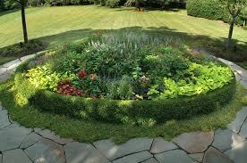 Small Picture Round Garden Design Ideas Round raised bed herb garden ideas