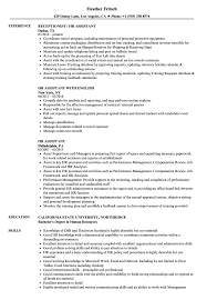 Human Resources Assistant Resume Examples