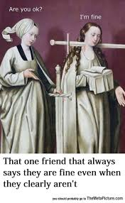 funny old painting sword neck