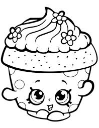 Cupcake Petal Shopkin Coloring Page Free Printable Coloring Pages