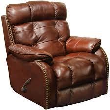 leather glider recliner in walnut and ottoman white rocker simon li costco