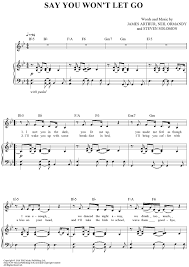 say you won t let go sheet music say you wont let go sheet music music for piano and more