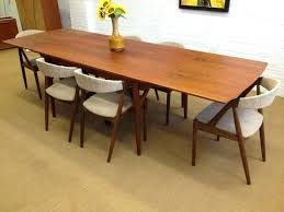 mid century dining table mid century modern round dining table with leaves