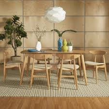 Norwegian Danish Modern Oak Tapered Dining Set iNSPIRE Q Modern - Free  Shipping Today - Overstock.com - 19785707