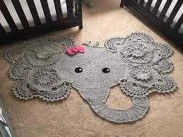 new elephant rug for nursery pattern
