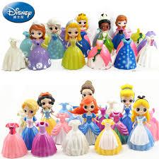 <b>6PCS Disney</b> 8 11CM A/B Style <b>Frozen</b> doll Fairy Mermaid Princess ...