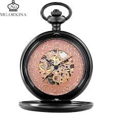 popular wind up pocket watches buy cheap wind up pocket watches gold silver black pocket watch men stainless steel chain hand wind up mechanical pocket watches