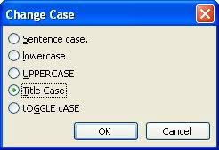 changing text case microsoft word