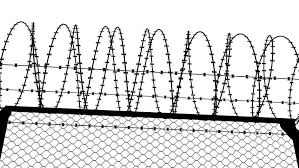 barbed wire fence transparent.  Wire Fence With A Barbed Wire Stock Footage Video 100 Royaltyfree 10092866   Shutterstock In Transparent I