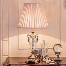 Lovely Luxary Classic American Bedroom Table Light Foyer European Crystal Table  Lamp Glass Tall Table Light Bedside
