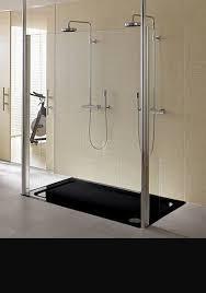 skinny black large flush shower tray