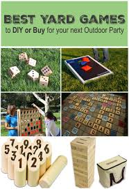Homemade Wooden Games Best Yard Games for an Outdoor Party Sometimes Homemade 97