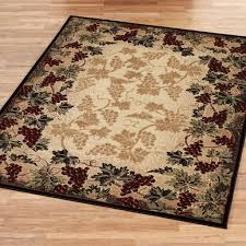 Rubber Backed Kitchen Rugs Kitchen Breathtaking Big Kitchen Area Rugs With Grapes Pattern On
