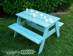 table ideas picnic table for kids elegant diy kids picnic table plans from anna white