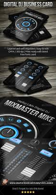 Best 25 Dj Business Cards Ideas On Pinterest Unique Business