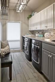 Laundry Room Lighting Long Narrow Laundry Room Lots Of Counter Space Wood Look