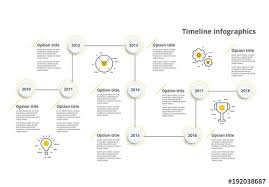 Colorful Zigzag Timeline Infographic Layout Buy This Stock Template