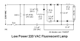 fluorescent lamps ballasts and fixtures wiring diagram of low power 220 vac fluorescent lamp