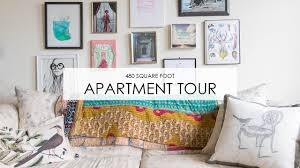 Apartment Tour: Boho Style In 480 Square Feet   YouTube