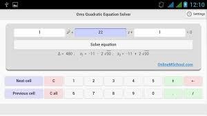 quadratic equation solver calculator jennarocca