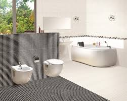 Interior Outstanding Glazing Bathroom Tile With Black White - Glazed bathroom tile