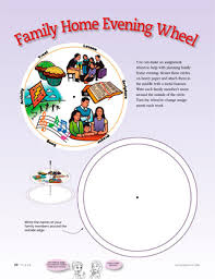 Family Home Evening Chart Ideas Family Home Evening Wheel