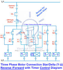 three phase motor connection star delta y Δ reverse forward control diagram 3 phase motor connection star delta y Δ reverse forward