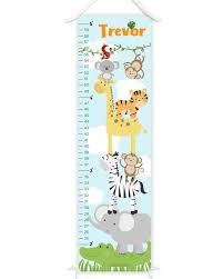 Safari Growth Chart Animal Growth Chart Canvas Growth Chart Safari Height Chart Animals Growth Ruler Zoo Animal Nursery Jungle Nursery