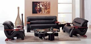 Hokku Designs Chrysocolla Piece Leather Living Room Set
