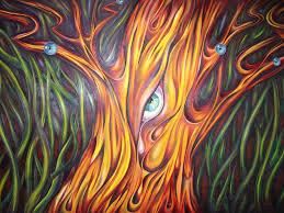 abstract art tree on canvas painting natasha russu abstract art of trees