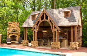 pool house kitchen. Uncategorized, Charming Outdoor Pool House And Fireplace Designs Plus Kitchen Rustic Diy: Breathtaking N